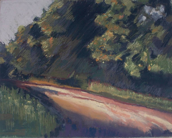 Dirt Roads Art Print featuring the pastel Summer Roads by Grace Keown