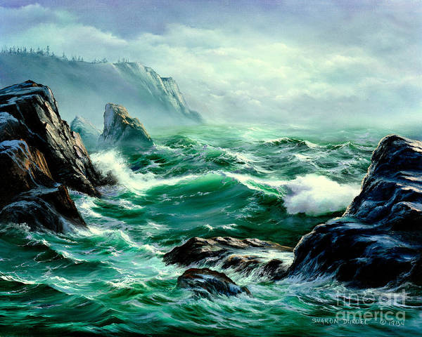 Seascapes Art Print featuring the painting Symphony by Sharon Abbott-Furze
