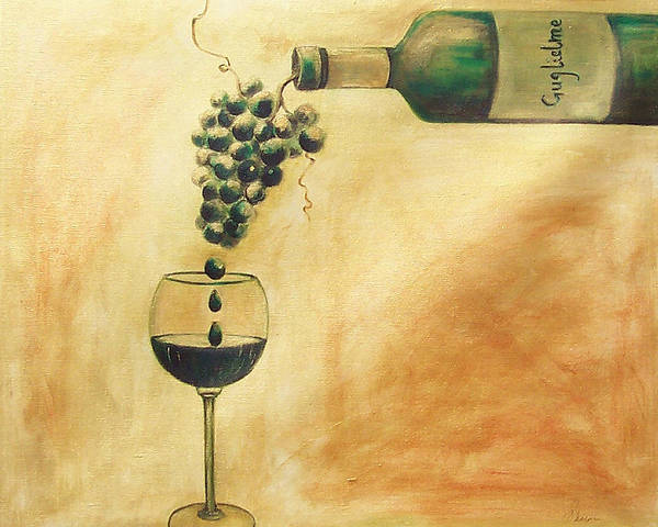 Wine Art Print featuring the painting Taste Of Life by Sheri Chakamian