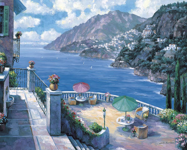 Pallet Art Print featuring the painting The Amalfi Coast by John Zaccheo