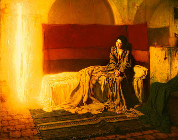 Painting Art Print featuring the painting The Annunciation by Mountain Dreams