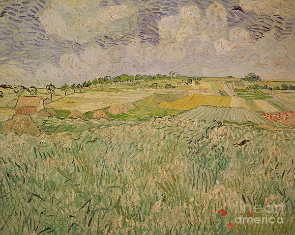 Field Art Print featuring the painting The Plain At Auvers by Vincent Van Gogh