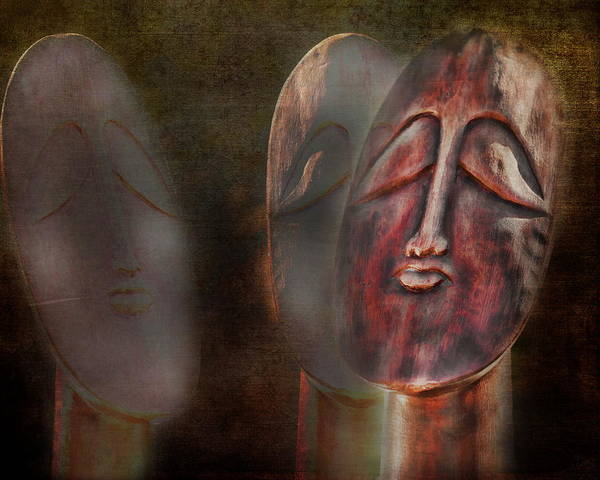 Abstract Print featuring the photograph The Seekers by Terry Fleckney