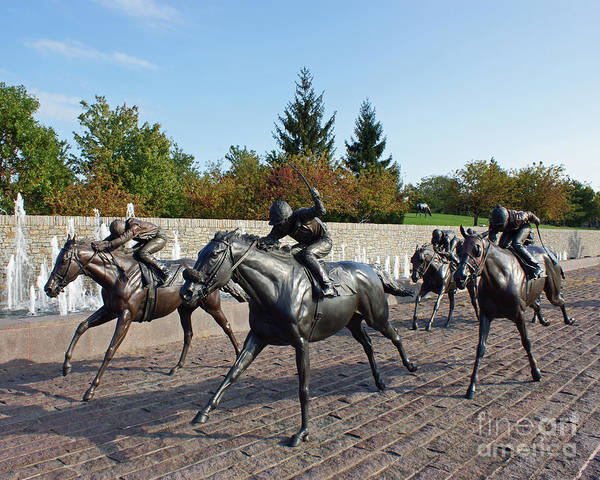 Kentucky Print featuring the photograph Thoroughbred Park by Roger Potts