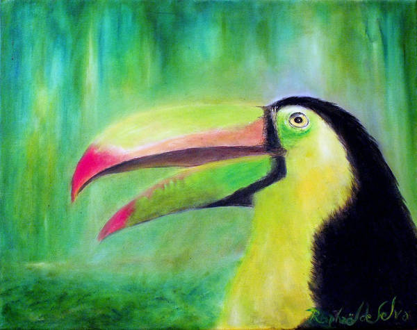 Bird Art Print featuring the painting Toucan Land by Raphael De Selva