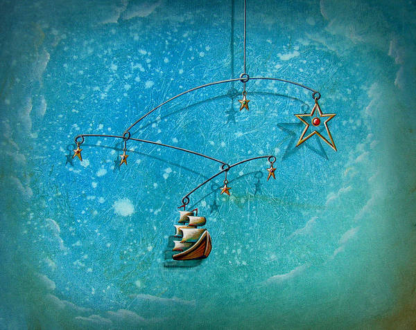 Boat Art Print featuring the painting Treasure Hunter by Cindy Thornton