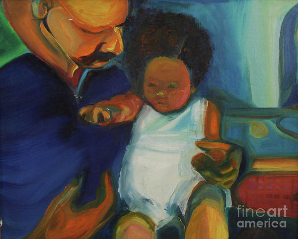 Oil Painting Art Print featuring the painting Trina Baby by Daun Soden-Greene