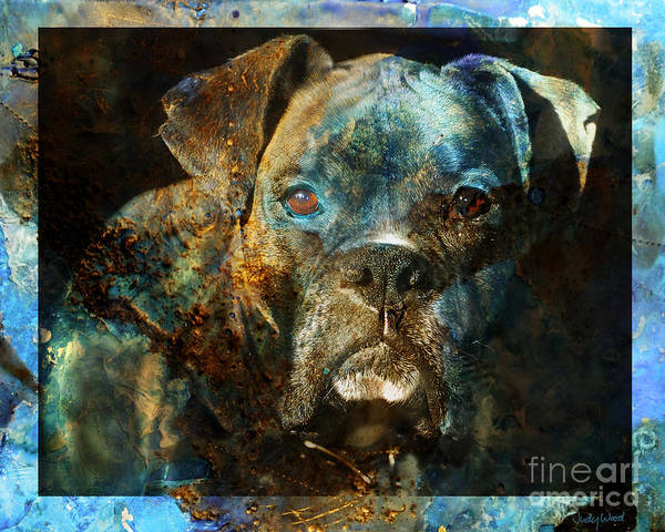 Dog Print featuring the digital art True Colours by Judy Wood
