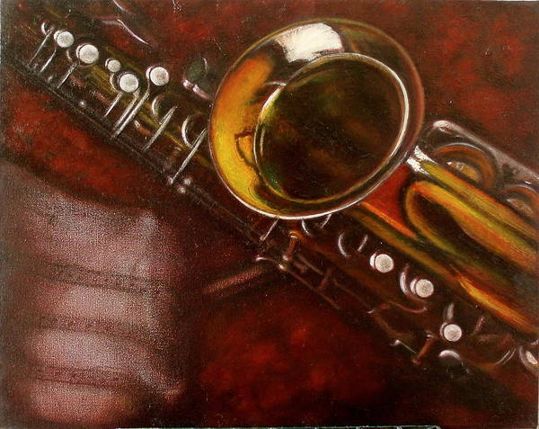 Still Life Art Print featuring the painting Unprotected Sax by Sean Connolly
