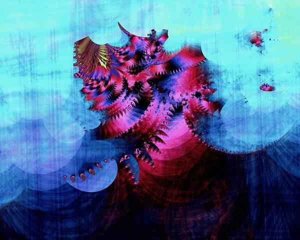 Fractal Art Print featuring the digital art Untitled #54 by Kenneth Keller