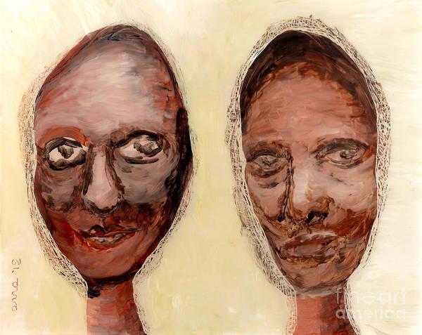Women Art Print featuring the painting Untitled Two by Anna Skaradzinska
