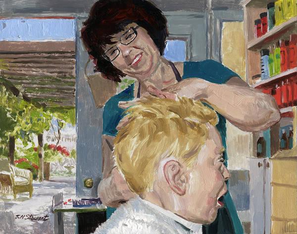 Valerie Stewart Salon Art Print featuring the painting Valerie Stewart's Salon by John Norman Stewart