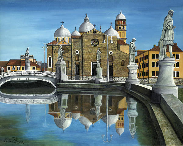 Landscape Art Print featuring the painting Veneto by SheRok Williams