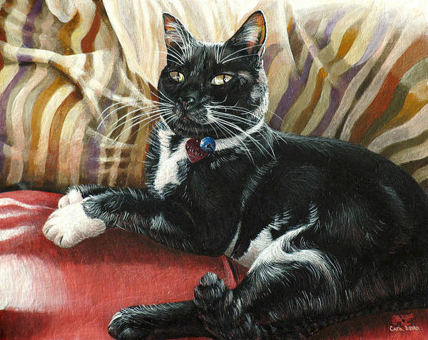 Victor Art Print featuring the painting Victor by Cara Bevan