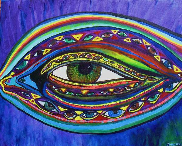 Vision Art Print featuring the painting Vision by J Andrel