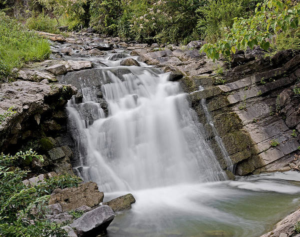 Waterfall In Steele Creek Park Bristol Tn Art Print By Brendan Reals