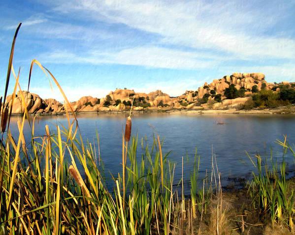 Watson Lake Print featuring the photograph Watson Lake Arizona by Kurt Van Wagner