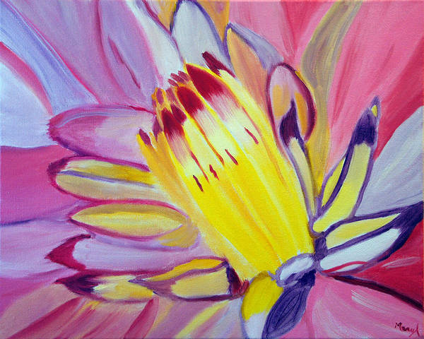 Flower Art Print featuring the painting Welcoming The Sun by Meryl Goudey