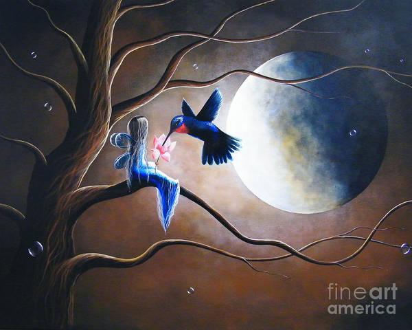 Hummingbird Art Print featuring the painting What Love Looks Like By Shawna Erback by Shawna Erback