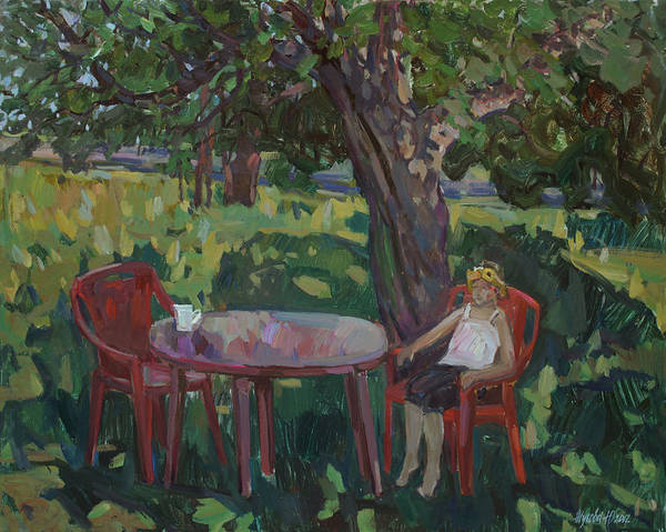 Garden Art Print featuring the painting When The Trees Are Big by Juliya Zhukova