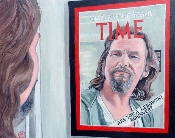 The Dude Art Print featuring the painting Who Is This Guy by Tom Roderick