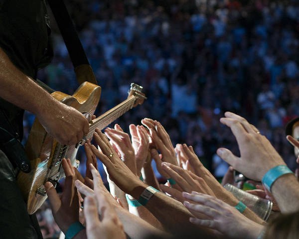 Springsteen Print featuring the photograph With These Hands by Jeff Ross