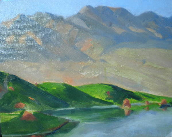 Golf Paridise In Mesquite Art Print featuring the painting Wolf Creek by Bryan Alexander