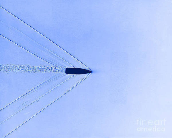High Speed Photography Art Print featuring the photograph Bullet Through Air by Omikron