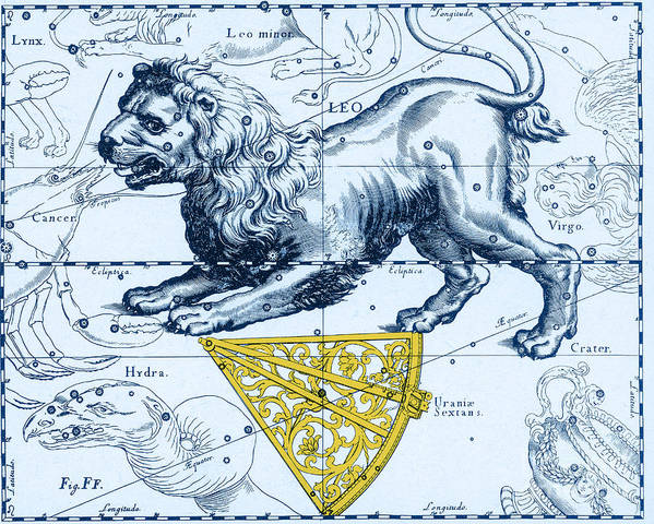 Science Art Print featuring the photograph Leo, The Hevelius Firmamentum, 1690 by Science Source