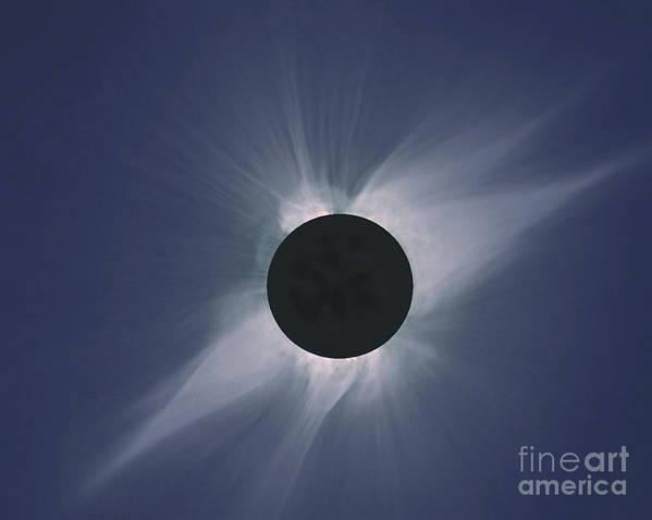 Solar Eclipse Art Print featuring the photograph Solar Eclipse by Nasa