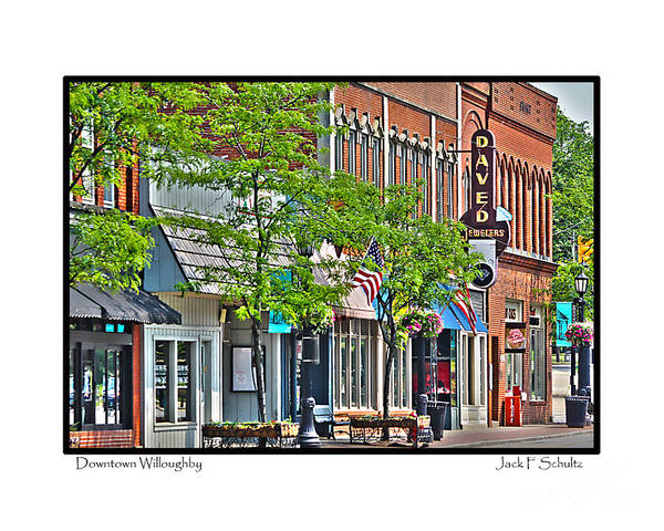 Downtown Willoughby Ohio Art Print featuring the photograph Downtown Willoughby by Jack Schultz
