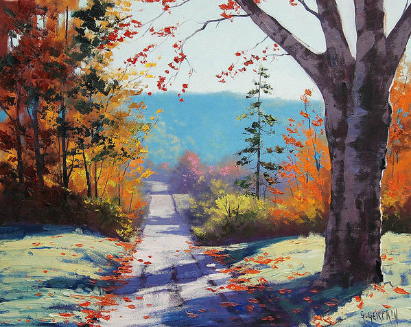 Fall Art Print featuring the painting Autumn Delight by Graham Gercken