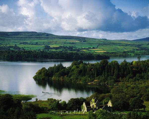 Ballindoon Art Print featuring the photograph Ballindoon Abbey, Lough Arrow, Co by The Irish Image Collection