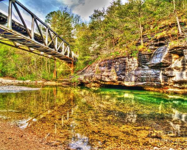 Barkshed Art Print featuring the photograph Barkshed Creek Bridge by Kevin Pugh
