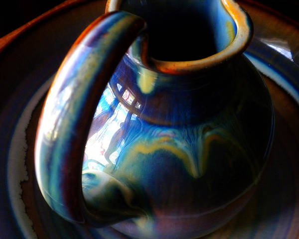 Clay Pitcher Art Print featuring the photograph Clay Pitcher by Kristen Cavanaugh