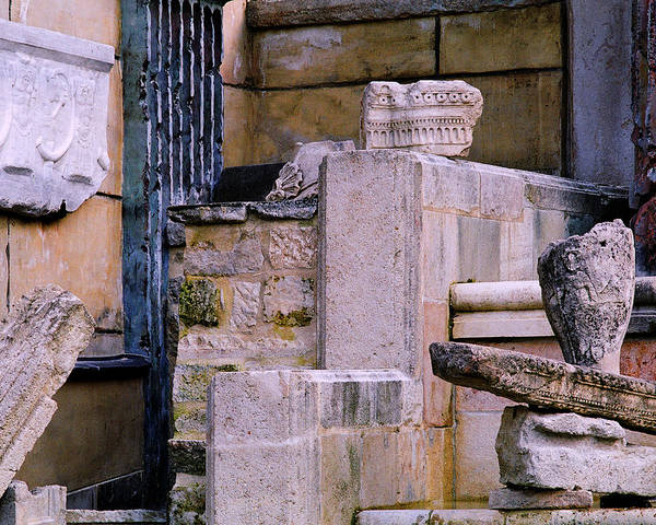 Ruins Art Print featuring the photograph Collection Of Artifacts Number 1 by Greg Matchick