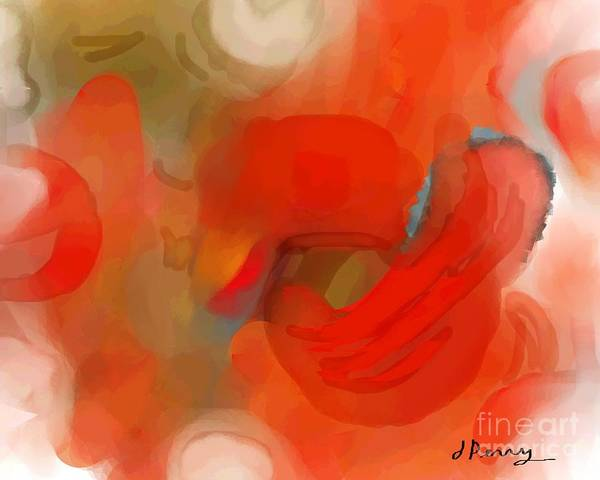 Abstract Art Prints Art Print featuring the digital art Delayed by D Perry