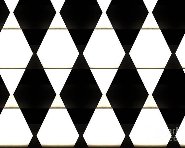 Photo Art Print featuring the photograph Diamonds White And Black by Marsha Heiken