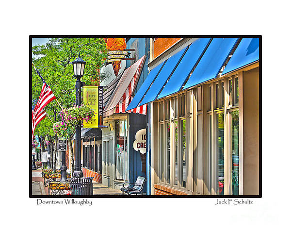 Art Print featuring the photograph Downtown Willoughby by Jack Schultz