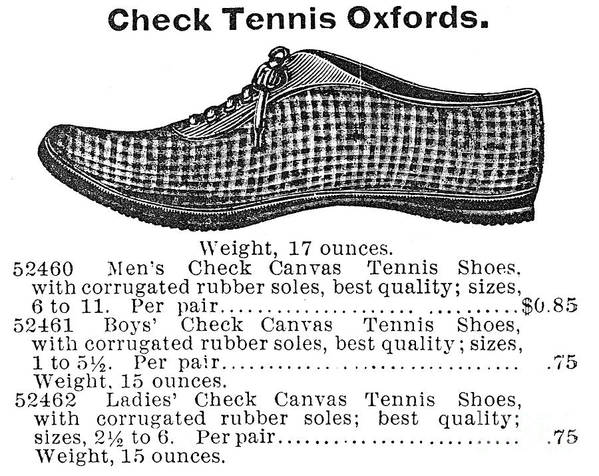 1895 Art Print featuring the photograph Fashion: Sneakers, 1895 by Granger