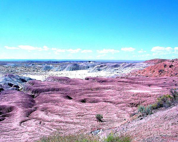 Arizona Art Print featuring the photograph Flatlands In The Arizona Painted Desert by Merton Allen