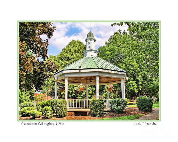 Gazebo Art Print featuring the photograph Gazebo In Willoughby Ohio by Jack Schultz