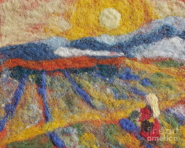 Needle Print featuring the tapestry - textile Hommage To Van Gogh by Nicole Besack