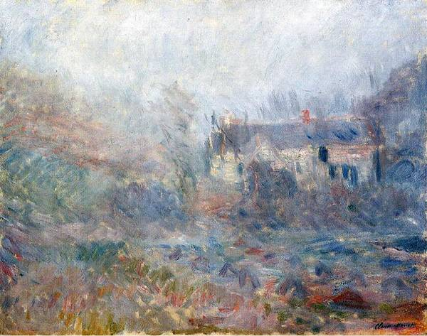 Claude Monet Art Print featuring the painting House At Falaise by Claude Monet