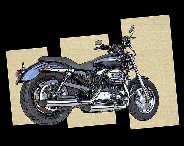 Iconic Harley Davidson Art Print featuring the photograph Iconic Harley Davidson by Bill Cannon
