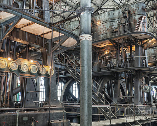 Steampunk Art Print featuring the photograph Industrial 8 by Phil Pantano