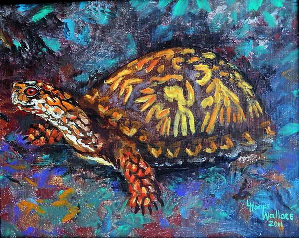 Leslie Art Print featuring the painting Joe Turtle by Leslie Hoops-Wallace