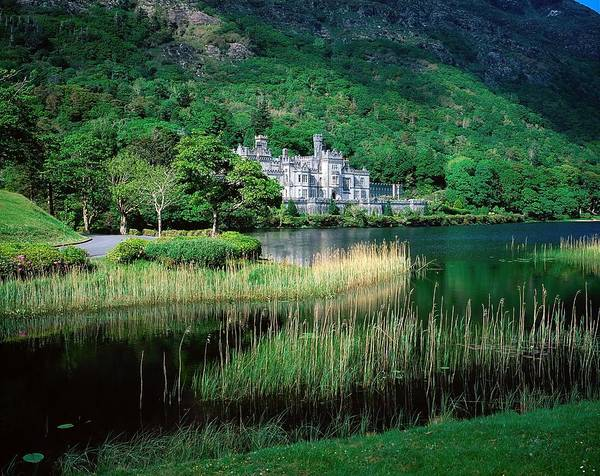 Beauty In Nature Print featuring the photograph Kylemore Abbey, Co Galway, Ireland by The Irish Image Collection