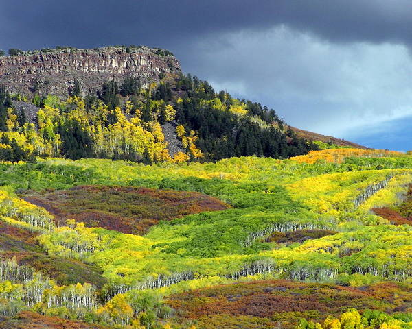 Grand Mesa Art Print featuring the photograph Lands End Road Vista by John Myers