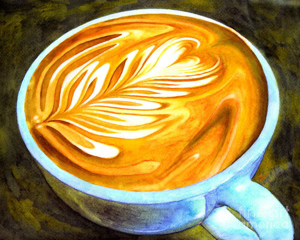Art Print featuring the painting Latte by Scott Alberts